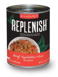 Replenish DogCan_BeefVegRice_rgb