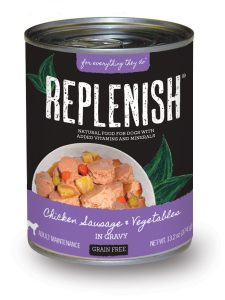 Replenish DogCan_ChickenSausageVeg_rgb